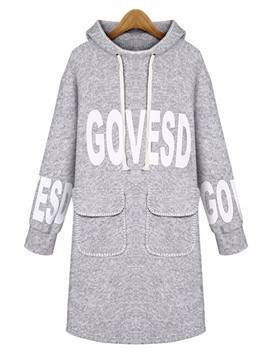 Ericdress Loose Letters Pullover Cool Hoodie