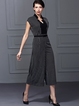 Ericdress Unique Stripe Jumpsuits Pants
