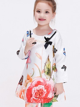 Ericdress Necklace Flowers&Butterfly Printed Girls Tops