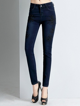 Ericdress Fashion Embroidery Jeans