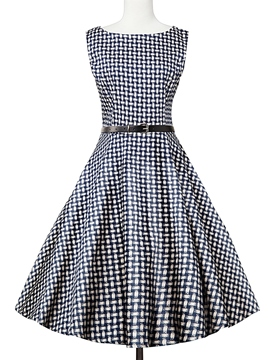 Ericdress Vintage Plaid Sleeveless Summer Casual Dress