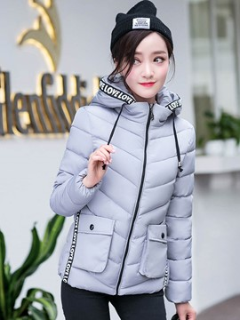 Ericdress Color Block Pocket Plus Size Coat