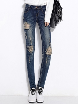 Ericdress Fashion Worn Jeans