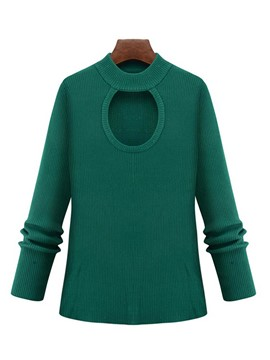 Ericdress Solid Color Hole Plus Size Knitwear