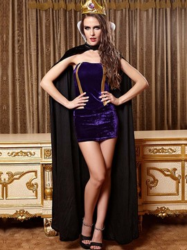Ericdress Sexy Dress with Cape Queen Cosplay Halloween Costume