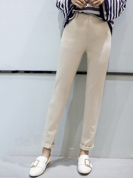 Ericdress Solid Color Leisure Pants