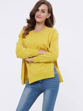 Ericdress Solid Color Loose Casual T-Shirt