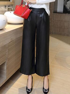 Ericdress Simple PU Pants