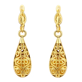 Ericdress Gold Water Droplets Earrings