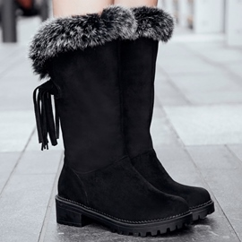 Ericdress Warm Furry Tassels Snow Boots