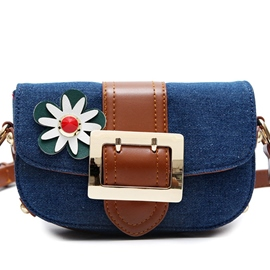Ericdress Lovely Floral Decorated Crossbody Bag