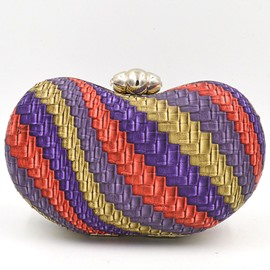 Ericdress Colorful Weaved Evening Clutch