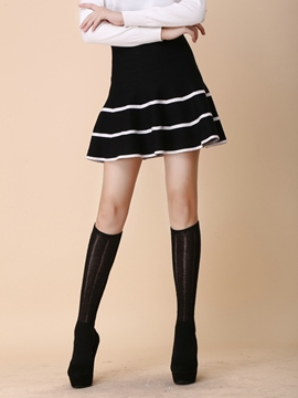 Ericdress Simple Stripe Knitwear Skirt