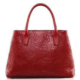 Ericdress Trendy Rose Embossed Handbag