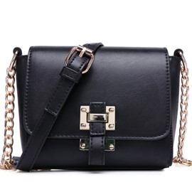 Ericdress Lock Chain Decorated Crossbody Bag