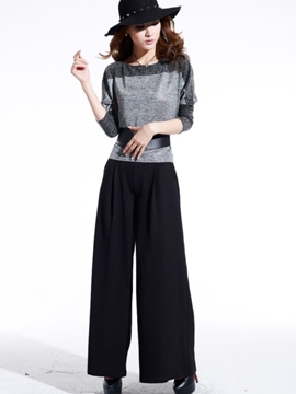 Ericdress Unique Fashion Wide Legs Pants Suit