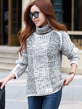 Ericdress Loose Turtleneck Casual Knitwear