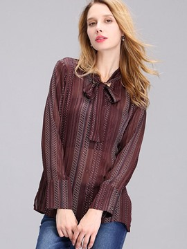 Ericdress Loose Lace-Up Elegant Blouse
