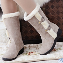 Ericdress Delicate Furry Snow Boots