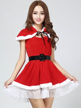 Ericdress Short Skirt Belt Santa Cosplay Christmas Costume