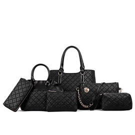Ericdress Stylish Plaid Embossed Handbags(6 Bags)