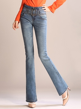 Ericdress Unique Simple Flared Jeans