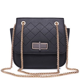 Ericdress Plaid Chain Decorated Crossbody Bag