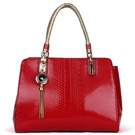 Ericdress Temperament Serpentine Patent Leather Handbag
