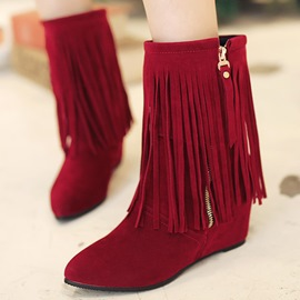 Ericdress Lovely Tassels Elevator Heel Ankle Boots