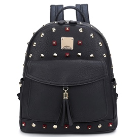 Ericdress Stylish Casual Rivets Decorated Backpack