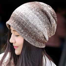 Ericdress Casual Gradient Stripe Hat