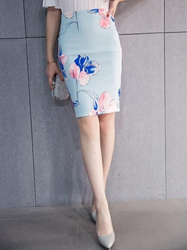 Ericdress Sweet Print Column Skirt