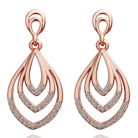 Ericdress Rose Gold Plated Women Earrings