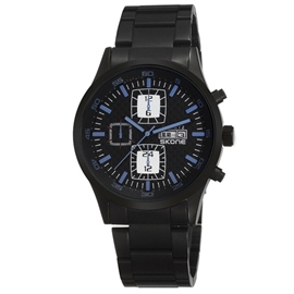 Ericdress Square Calendar Steel Belt Men's Watch