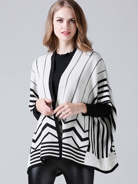 Ericdress Stripped Batwing Knitwear