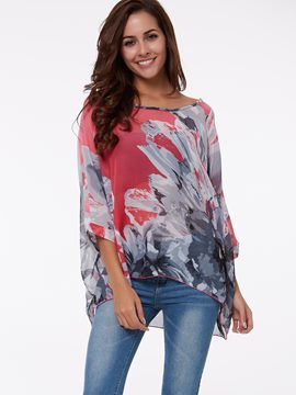 Ericdress Loose Printed Slash Blouse