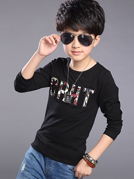 Ericdress Fabric Patch Embroidery Pure Boys Top