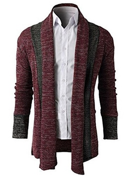 Ericdress Color Block Cardigan Casual Men's Sweater