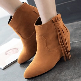 Ericdress All Match Tassels Elevator Heel Ankle Boots