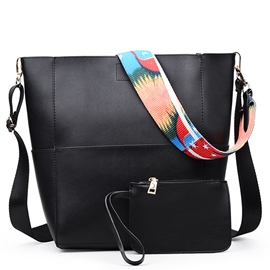 Ericdress Colorful Strap Bucket Crossbody Bags(2 Bags)