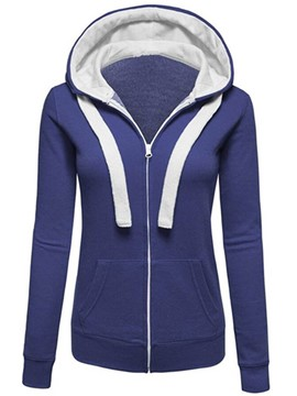 Ericdress Casual Color Block Cool Hoodie