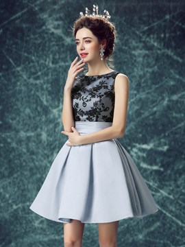 Ericdress A-Line Bateau Lace Mini Homecoming Dress