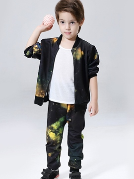 Ericdress Space Print Cardigan Two-Piece Boys Outfits
