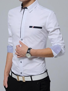 Ericdress Vogue Patchwork Anti Wrinkle Slim Men's Shirt