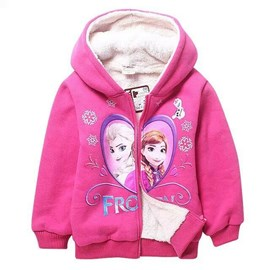 Ericdress Cotton Thickening Cartoon Printed Girls Outerwears