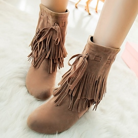 Ericdress Charming Fringe Ankle Boots