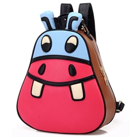Ericdress Cute Cartoon Hippo Backpack