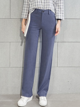 Ericdress Straight Simple Pants