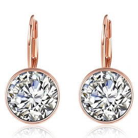Ericdress Zircon Round Stud Earrings