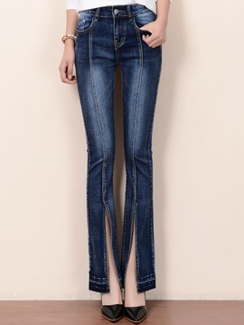 Ericdress Unique Split Jeans